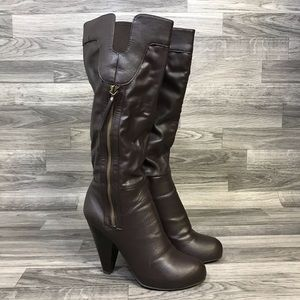 Unlisted Tuck Stop Brown Heeled Boots
